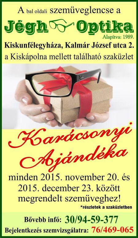 karácsonyi akciós szemüveglencse 2015